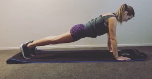 Girl in plank position