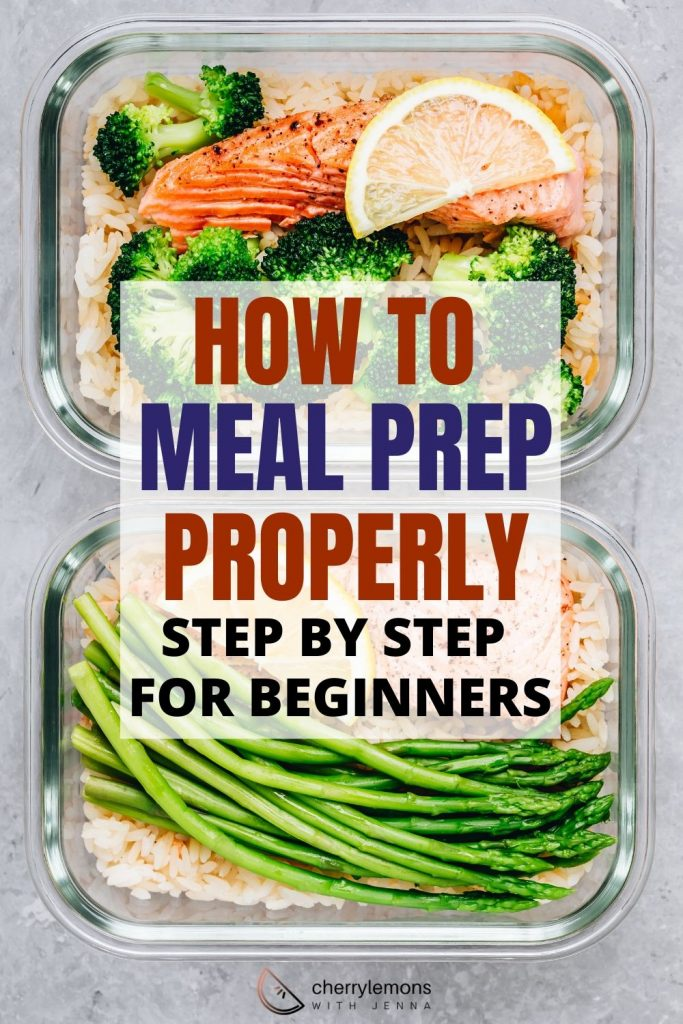 How to meal prep properly