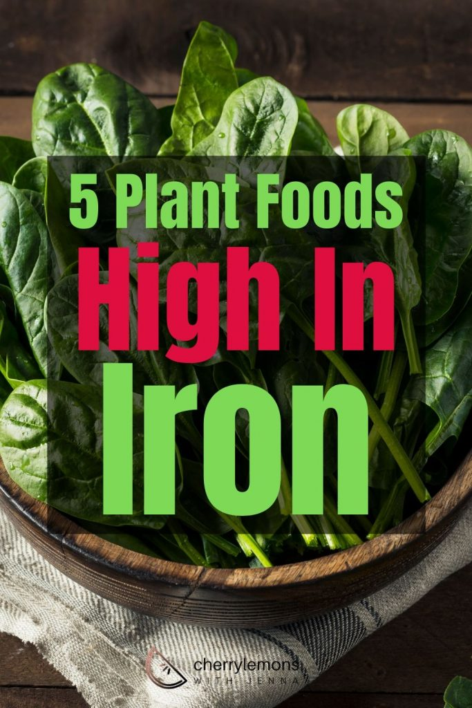 Plant foods high in iron