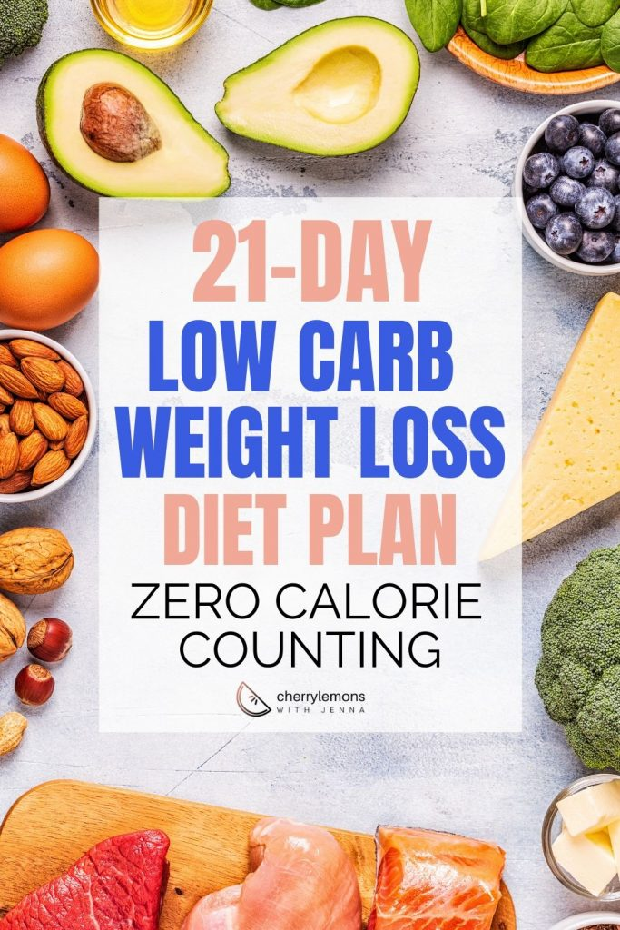 21-day low carb weight loss diet plan | Zero calorie counting